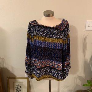 JohnPaulRichard Tops - Blue off the shoulder top